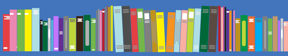 illustration of a row of books